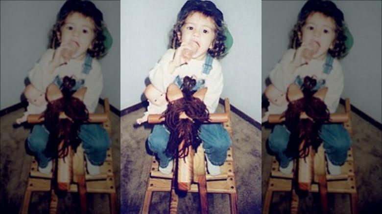 a criança Selena Gomez