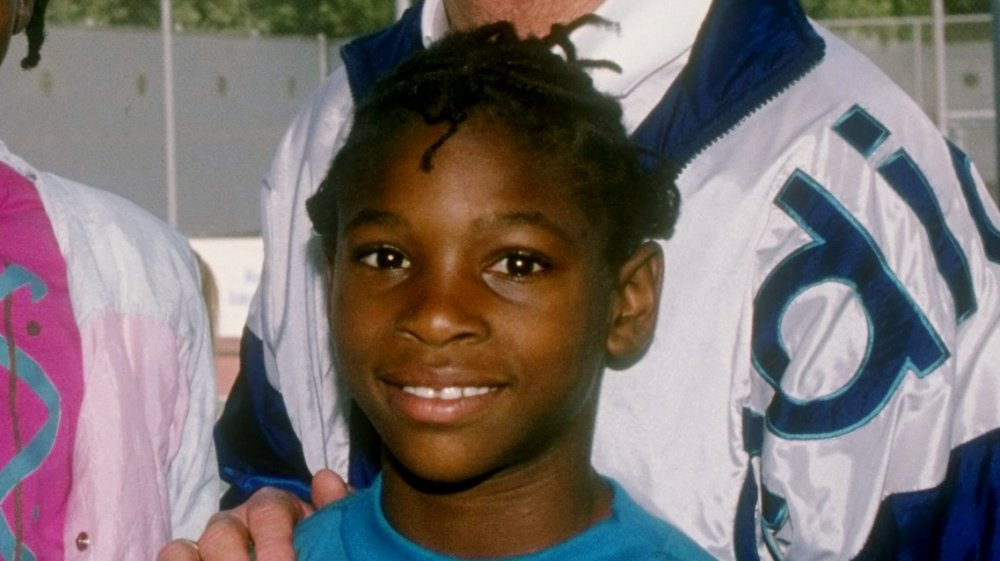 Serena Williams as a young girl in 1990