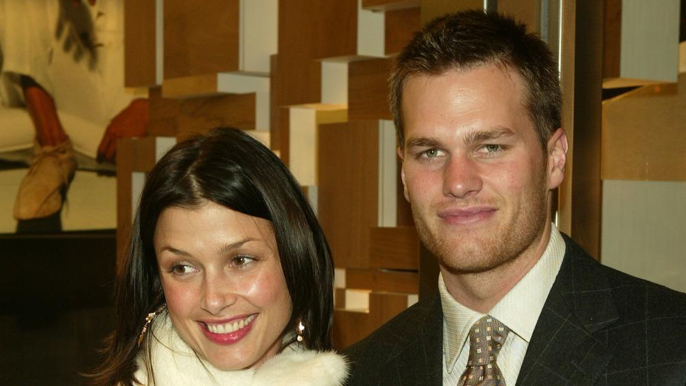 Tom Brady and Bridget Moynahan at an event
