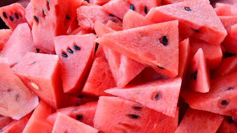 cut pieces of waterrmelon