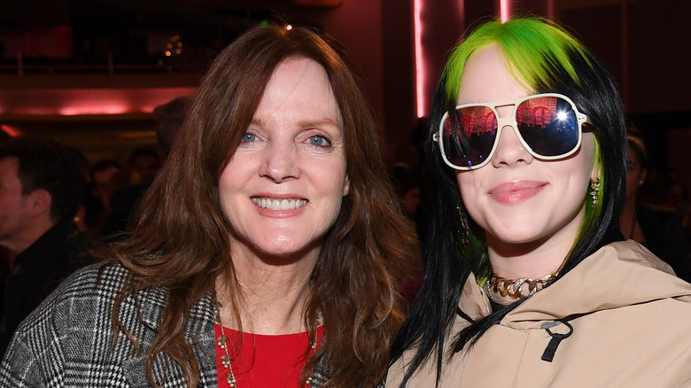 Billie Eilish poses with her mother, Maggie Baird