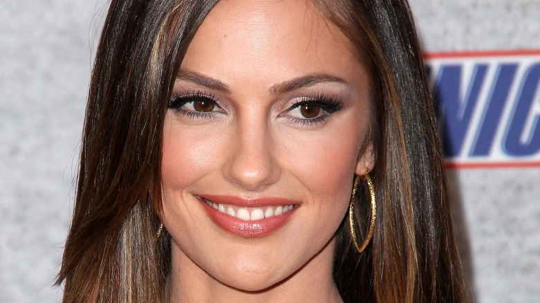 Minka Kelly smiling hair side parted