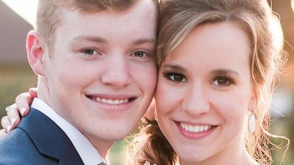 Justin and Clare Duggar smile