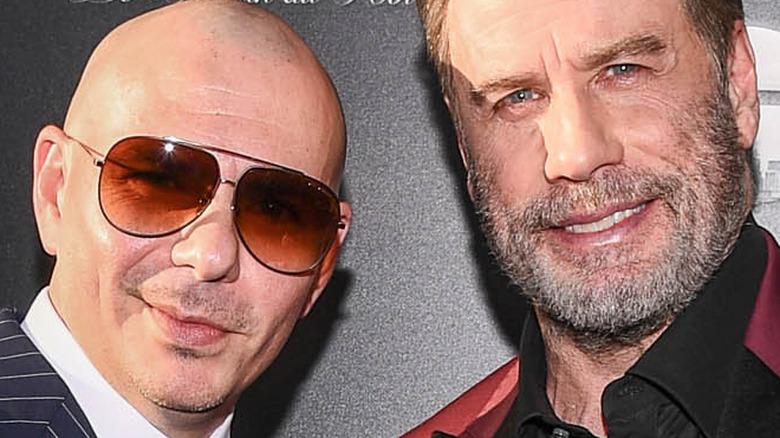 Travolta and Pitbull Gotti premiere