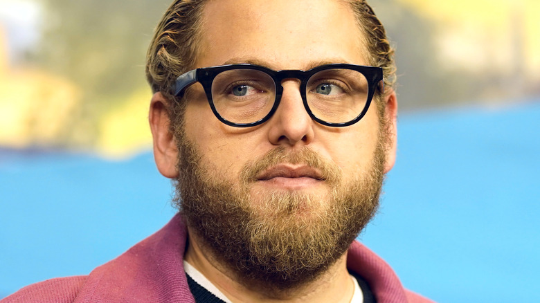 Jonah Hill looking to the side
