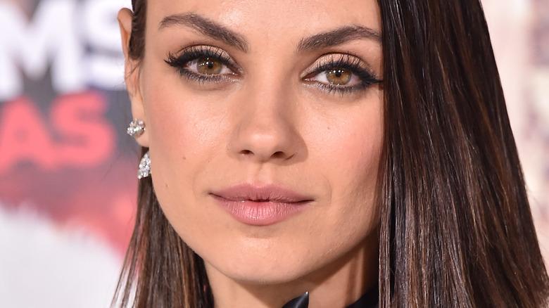Mila Kunis face close-up