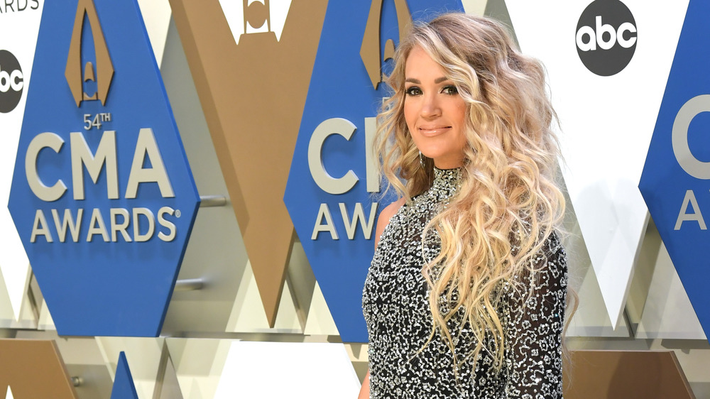 Carrie Underwood smiling at CMAs