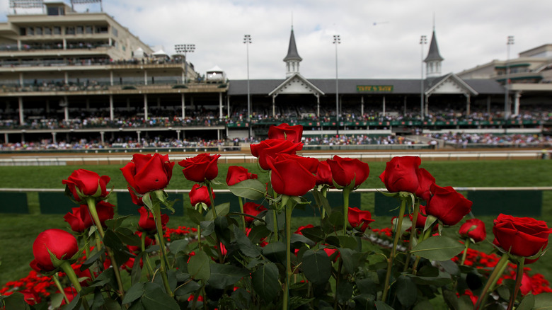 Churchill Downs with roses
