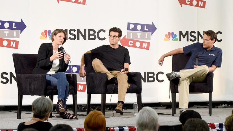 Steve Kornacki in khaki (right)