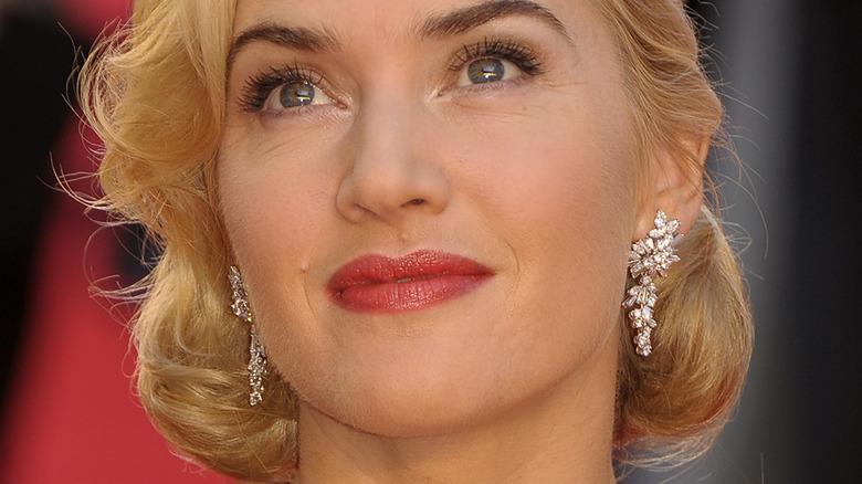 Kate Winslet staring at crowd