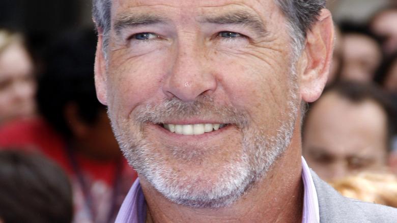Pierce Brosnan smiling close-up