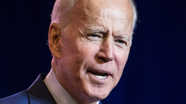 President Joe Biden gives a speech