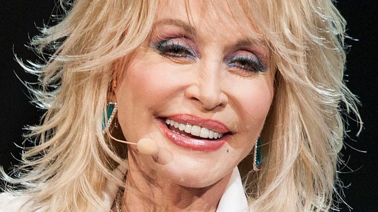 Dolly Parton performs onstage
