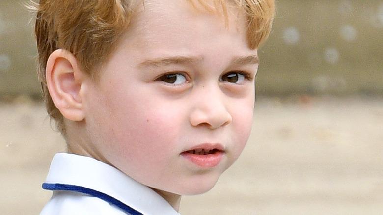 Prince George outside