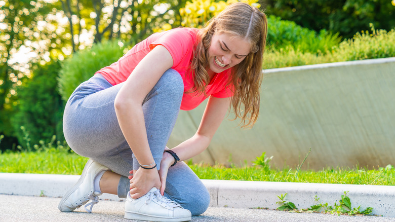 Woman with a Charley horse