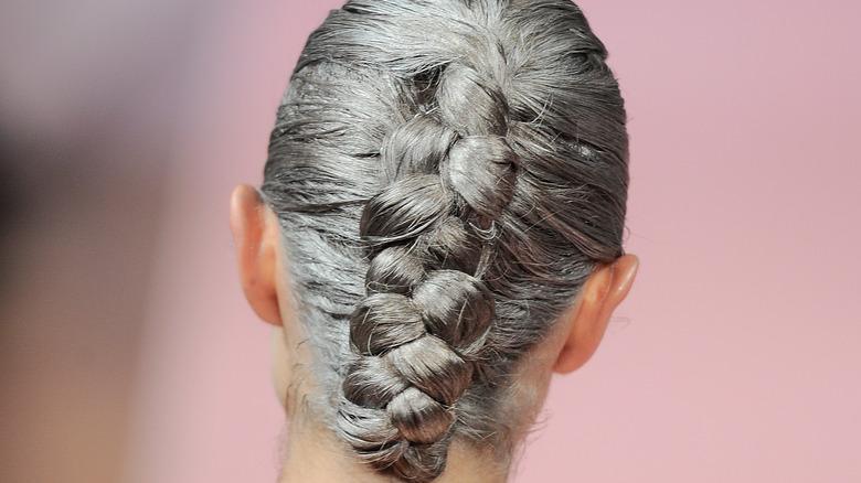 back of gray hair