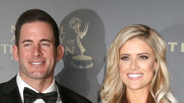 Tarek El Moussa and Christina Haack pose on the red carpet together