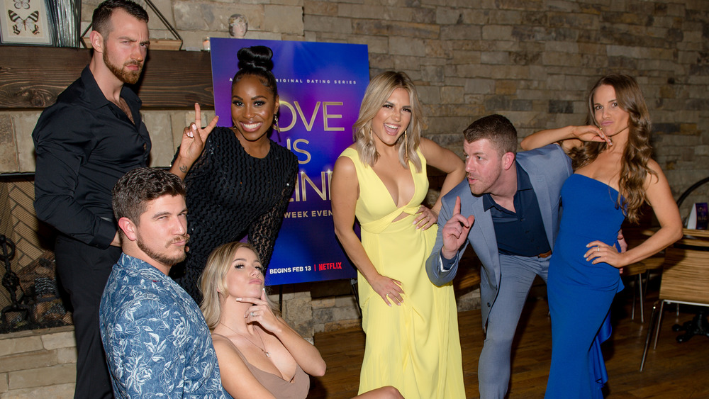 Love Is Blind cast goofing off at event