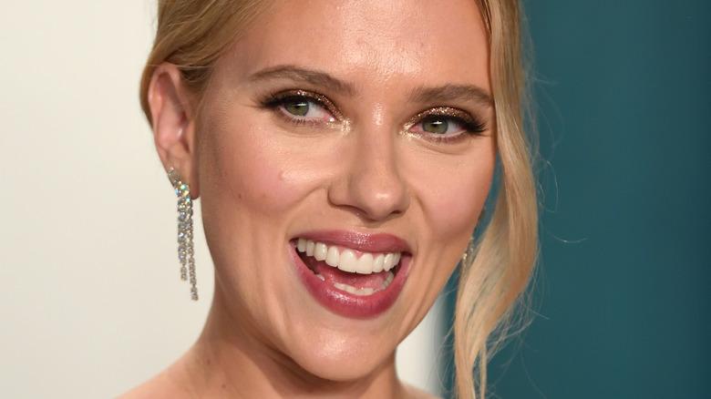 Scarlett Johansson smiling mouth open