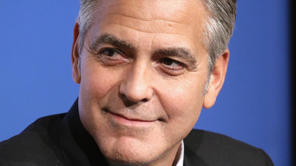 George Clooney onstage