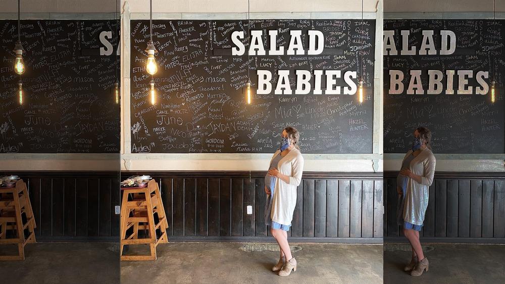 Jinger Duggar at Caioti Pizza Cafe Maternity Salad