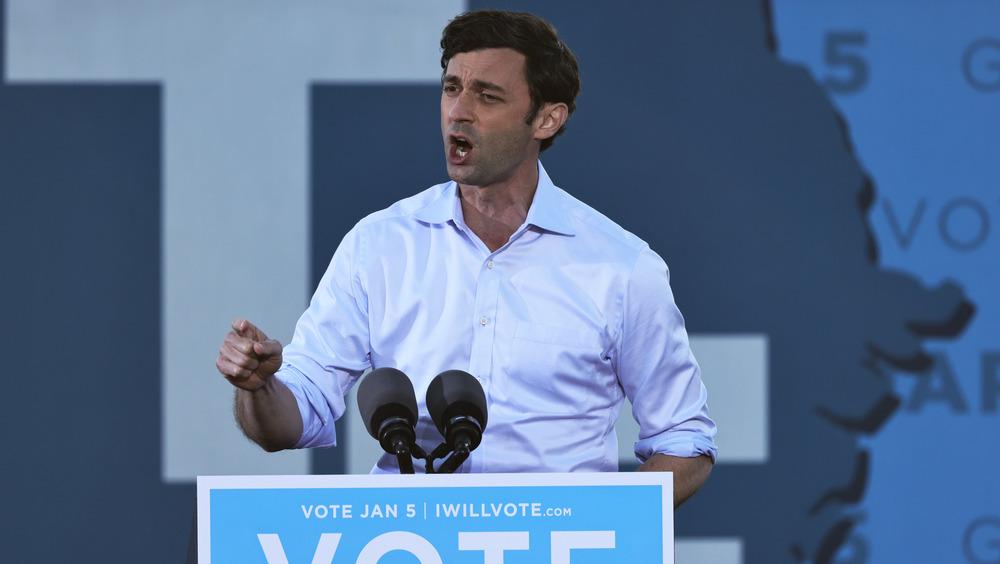 Jon Ossoff at voting rally