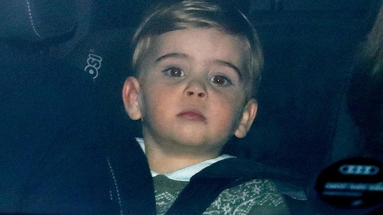 Prince Louis sitting in car