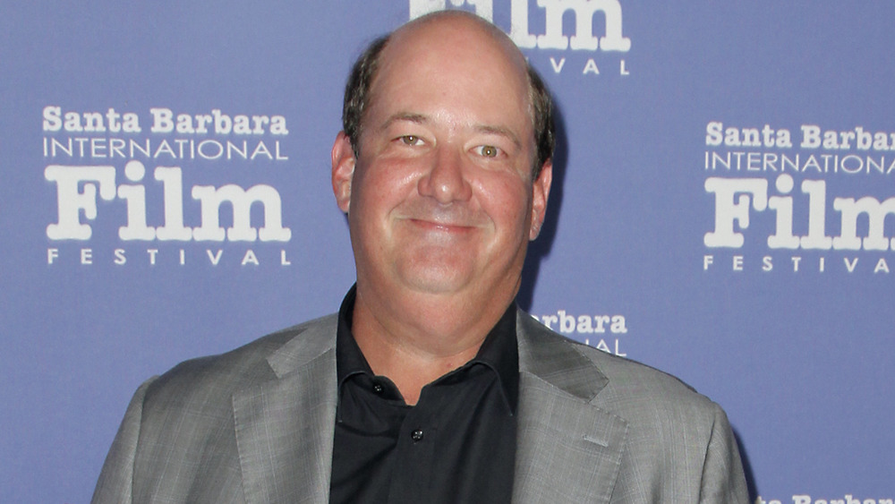 Brian Baumgartner with a small smile