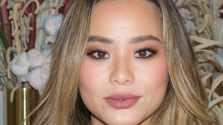Jamie Chung in glistening makeup