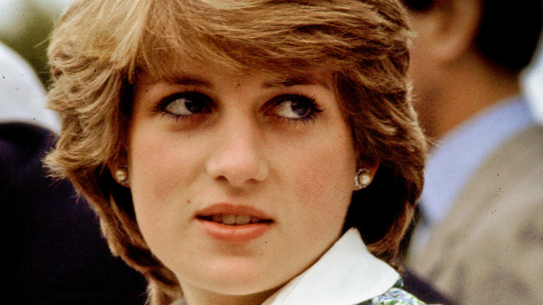 Princess Diana staring