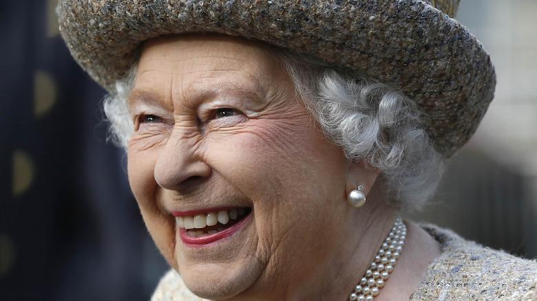 Queen Elizabeth with signature lipstick