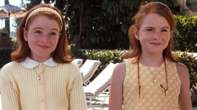 Lindsay Lohan as the twins in The Parent Trap
