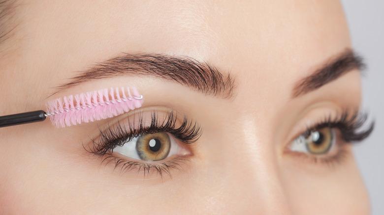 Eyelashes with makeup tool