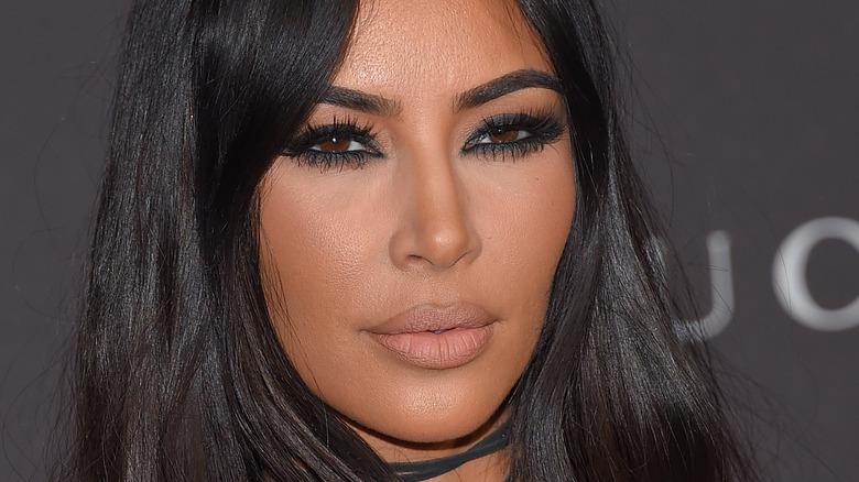 Kim Kardashian smokey makeup