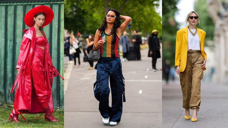 Three women show off their street style cargo pants