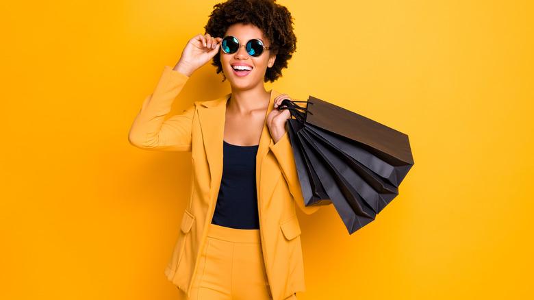 Woman with yellow blazer