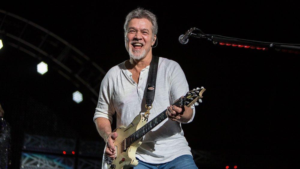Eddie Van Halen on the guitar