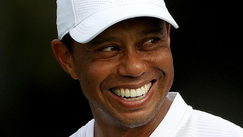 close up of Tiger Woods