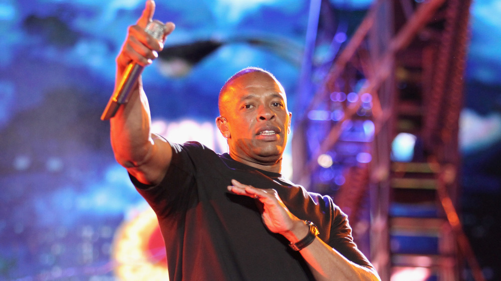 Dr. Dre performing onstage