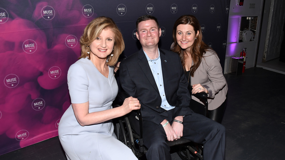 Pat Quinn, Center, with Arianna Huffington