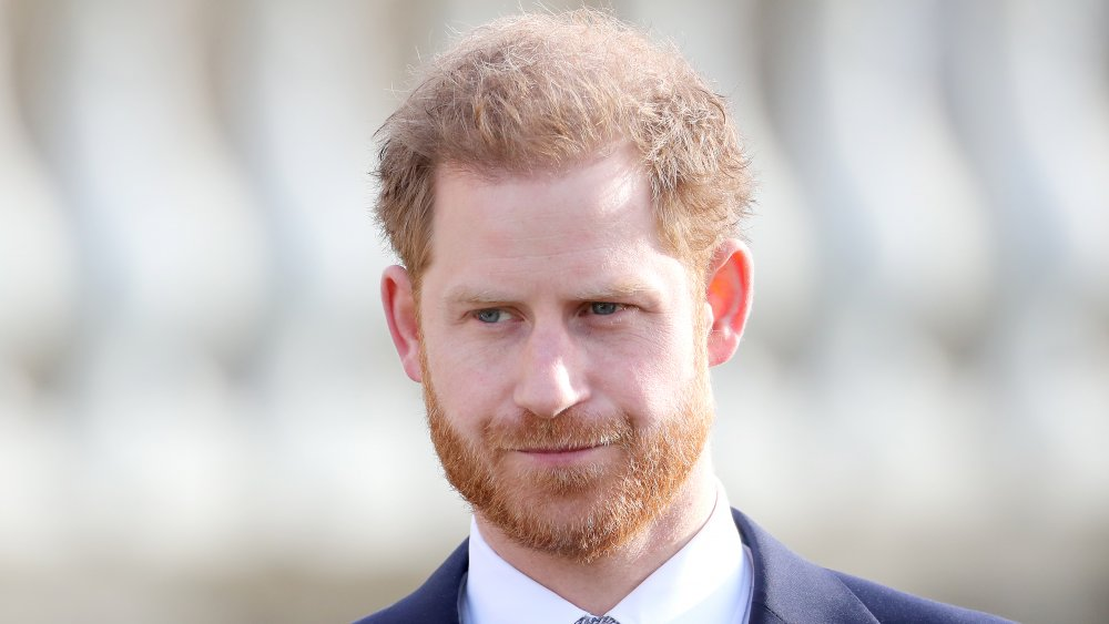 Prince Harry at a tournament in 2020