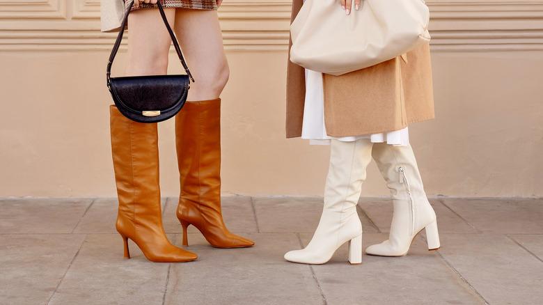 Women wearing knee-high boots