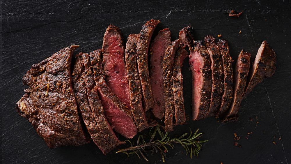 "cheap ""fancy"" steak (flat-iron)"