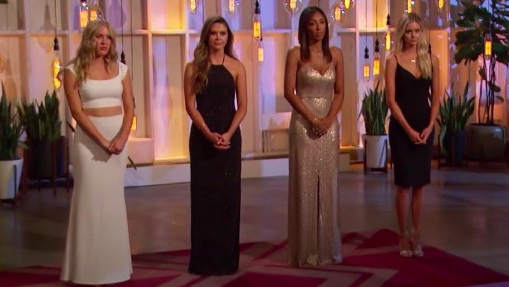 Rose ceremony gowns, Colton Underwood, Cassie, Caelynn, Tayshia, Hannah G.