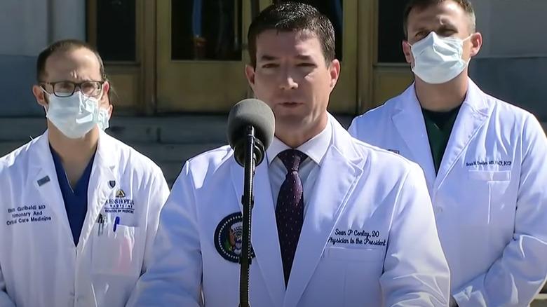 Dr. Sean Conley at Walter Reed Trump press conference