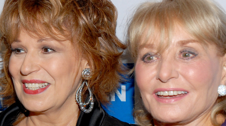 Barbara Walters and Joy Behar posing