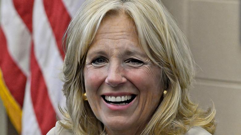 Jill Biden laughing