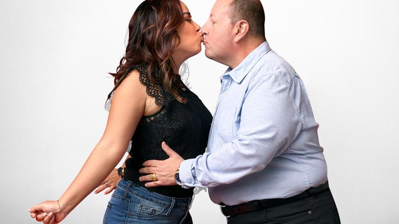 David Toborowsky and Annie Suwan smooching