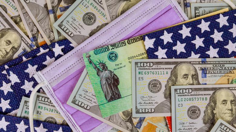 Emergency stimulus check mockup
