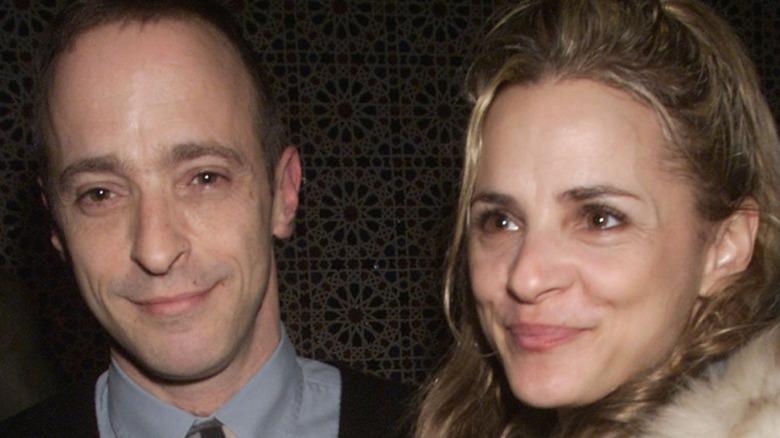 Amy Sedaris and brother David Sedaris smiling together